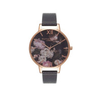 Olivia Burton Floral Black Watch