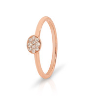 9ct Rose Gold Oval Diamond Ring