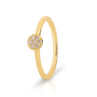 9ct Yellow Gold Stacker Diamond Ring