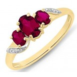 9ct Ruby & Diamond ring (M2929)