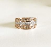 Dreamtime Three Row Diamond Ring