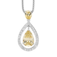 Citrine CZ Pear Shaped Drop Pendant (P529CSC)
