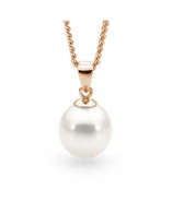9ct White 10-10.5mm Freshwater Pearl Pendant