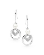 Freshwater Pearl CZ Hook Earrings (IP46)