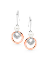 Freshwater Pearl CZ Hook Earrings (IP46E)