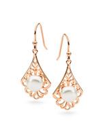 Freshwater Pearl Hook Earrings (IP6870E)