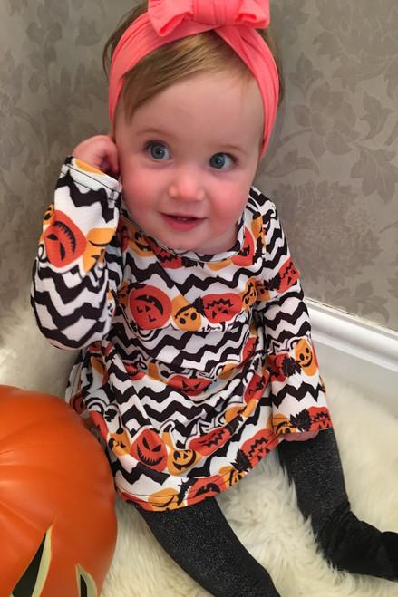 Children's Pumpkin Strata Halloween swing