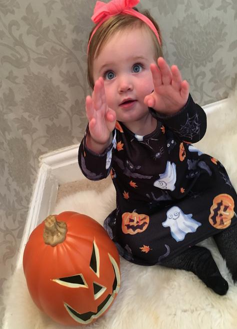 Children's Halloween Black Celebration Swing