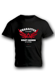 """CHARACTER"" on BLACK TSHIRT"
