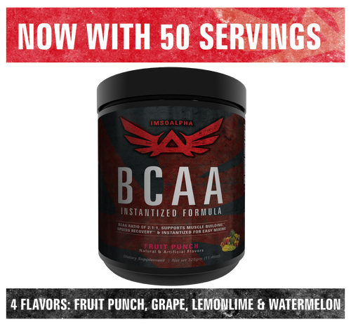BCAA with Added Glutamine - NOW comes with 50 servings and 4 flavors - Grape, Fruit Punch, Watermelon and Lemon Lime