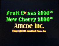 Fruit Bonus 2000 / New Cherry 2000 Title Screen