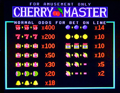 Cherry Delight Deluxe Title Screen with Odds