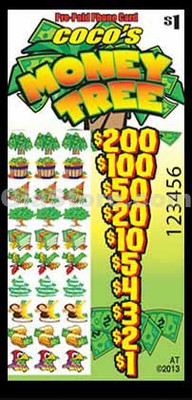 Money Tree Pre-Paid Phone Card Pull Tabs