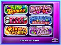 Game Gallery Main Category Screen