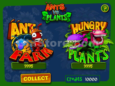 Ants vs. Plants Title Screen