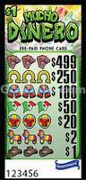 Mucho Dinero Pre-Paid Phone Card Pull Tabs