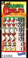 Caliente Chili's Pre-Paid Phone Card Pull Tabs