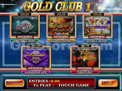 Gold Club 1 Game Selection