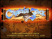 Captain Jack Title Screen