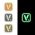 "Vanquest [V.] Logo - ""Super-Lumen"" Glow-In-The-Dark Patch"