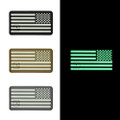 "US Flag Reversed (Right Star) - ""Super-Lumen"" Glow-In-The-Dark Patch"