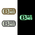 "Blood Type B- Negative - ""Super-Lumen"" Glow-In-The-Dark Patch"