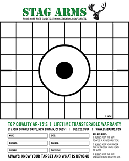 picture about Printable Zeroing Targets identify Printable Plans Stag Hands