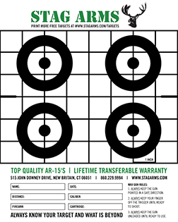 photo relating to Printable Zeroing Targets named Printable Objectives Stag Hands