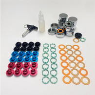 Trurev high end titanium skate bearing kit. Superior roll even when wet.