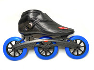 Trurev Carbon Fiber Pro Inline Speed Skating Skate - 3 Wheel Carbon Fiber Frame