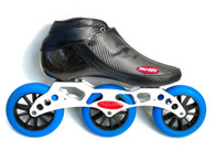 Trurev Carbon Fiber Pro Inline Speed Skating Skate - 3 Wheel Time Warp Frame