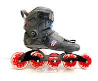 Trurev Pro Fitness Inline Speed Skate - 5 x 90mm Ski to Skate