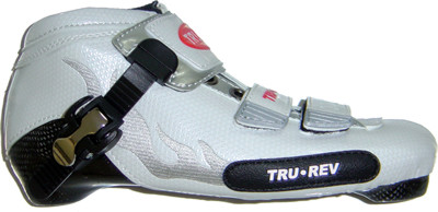TruRev inline speed skating boot professional - white