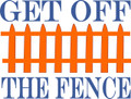 Wall Decals and Stickers - Get off the fence