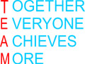 Wall Decals and Stickers - team: together everyone achieves more