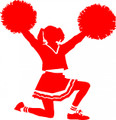 Wall Decals and Stickers - Cheerleader