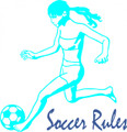 Wall Decals and Stickers - Soccer rules