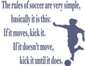 Wall Decals and Stickers - The rules of soccer