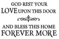 Wall Decals and Stickers-God rest your love upon this door