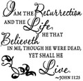 Wall Decals and Stickers-I am the resurrection