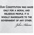 Wall Decals and Stickers -- Constitution quote by John Adams