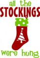 Wall Decals and Stickers -- Christmas (all the stockings were hung)