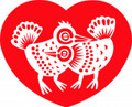 Wall Decals and Stickers – Loving birds in heart