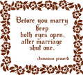 Wall Decals and Stickers – After Marriage Shut 1 Eye