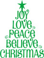 Wall Decals and Stickers – Joy Love Peace Believe