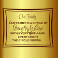 Wall Decals and Stickers – our family is a circle
