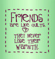 Wall Decals and Stickers –  friends are like quilts *