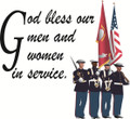 Wall Decals and Stickers –God bless our men