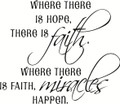 Wall Decals and Stickers – Where there is hope