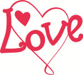 Wall Decals and Stickers–Love W Heart
